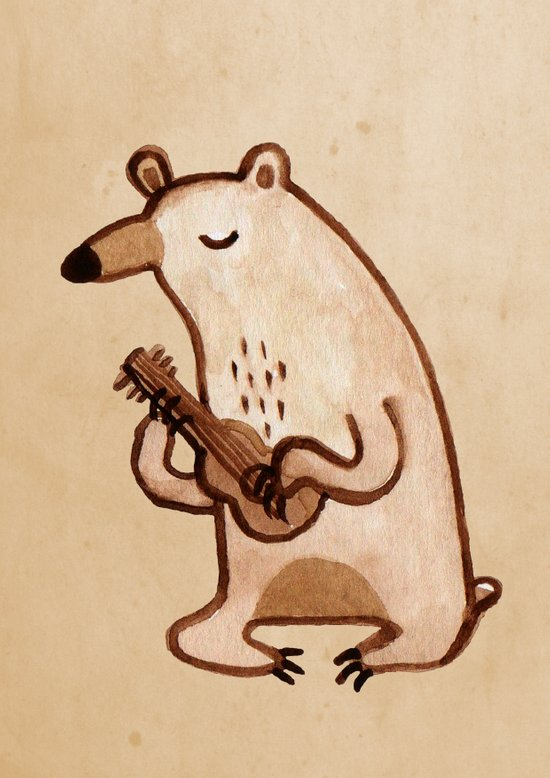 Ukulele Bear Art Print