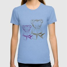 together bear Womens Fitted Tee Athletic Blue SMALL