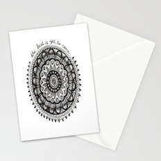 The Best Is Yet To Come Mandala Stationery Cards