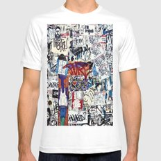 stuck White SMALL Mens Fitted Tee