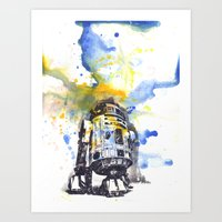 R2D2 from Star Wars Art Print