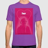 Her Mens Fitted Tee Ultraviolet SMALL