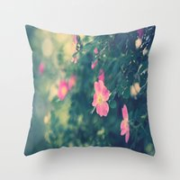 Central Park Roses Throw Pillow
