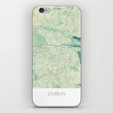 Dublin Map Blue Vintage iPhone & iPod Skin