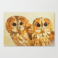 TAWN BETWEEN TWO OWLS Canvas Print