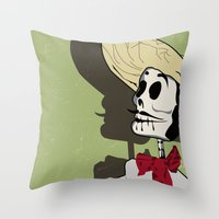 Dia De Los Muertos Man Throw Pillow