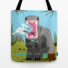 Hippopotamouth Tote Bag