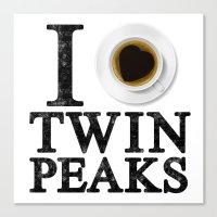 I Love Twin Peaks (Coffe… Canvas Print