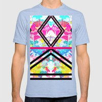 Pink Fashion Stripes Neo… Mens Fitted Tee Tri-Blue SMALL