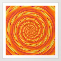 Orange Vortex Art Print