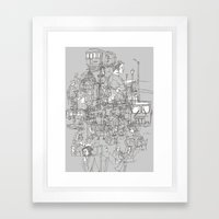 Interlocking Lives, Line… Framed Art Print
