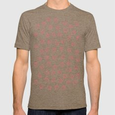 Strawberry Pattern Mens Fitted Tee Tri-Coffee SMALL