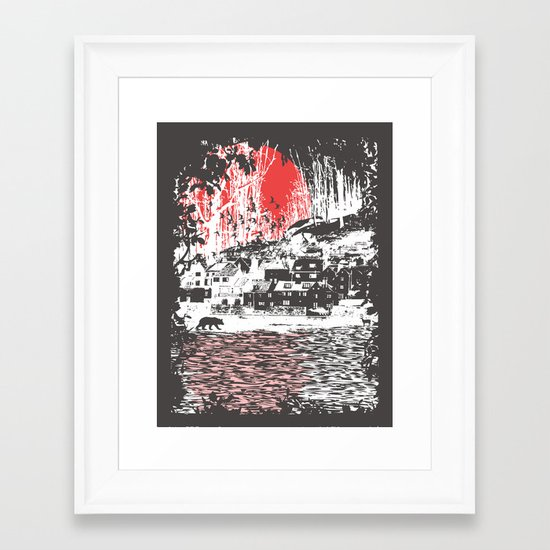 Cosmic Winter - Dark Framed Art Print