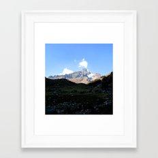 From Huacahuasi pass,Peru Framed Art Print
