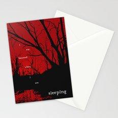 I am haunted when I am sleeping Stationery Cards
