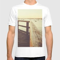 Waiting For The Sunset Mens Fitted Tee White SMALL