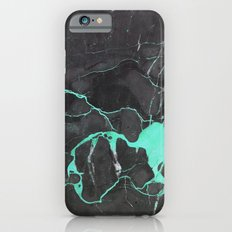 Grey And Blue Marble iPhone 6 Slim Case