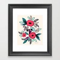 Romantic Vintage Floral … Framed Art Print