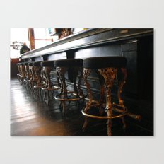The Lonely Bartender Canvas Print