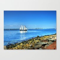 Canvas Print featuring Rhode Island by Ornithology