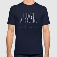I HAVE A DREAM - son - black Mens Fitted Tee Navy SMALL