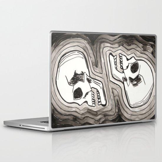 Two Skulls Laptop & iPad Skin