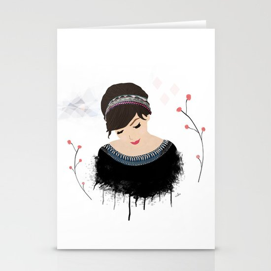 ONE SWEET GIRL Stationery Card