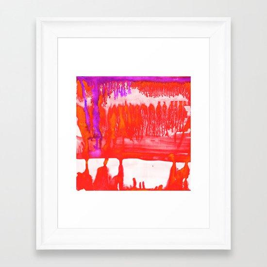 Dip Dye Tangelo Framed Art Print