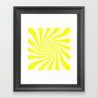 Swirl (Yellow/White) Framed Art Print