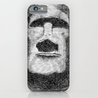 Easter island - Moai statue - Ink iPhone 6 Slim Case