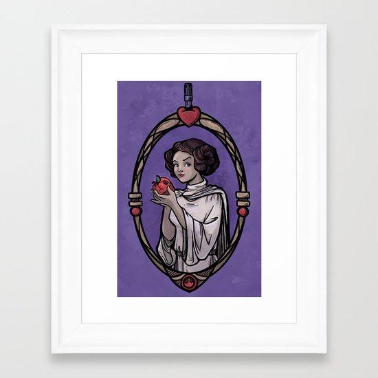 Snow Organa and the Poisoned Death Star Framed Art Print