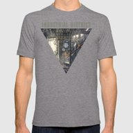 Industrial District Mens Fitted Tee Tri-Grey SMALL