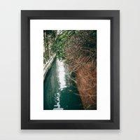 Branch Bokeh Framed Art Print