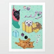 Merry Catmess Art Print