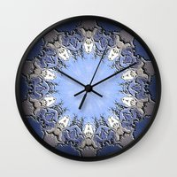 Polished Stone Metal Element Mandala Wall Clock