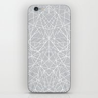 Abstract Lace on Grey iPhone & iPod Skin