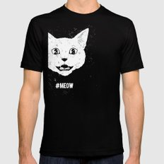 #MEOW Black SMALL Mens Fitted Tee