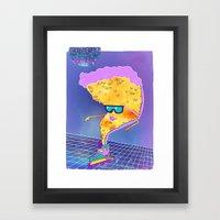 Disco Pizza  Framed Art Print