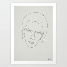 One line Nick Cave Art Print