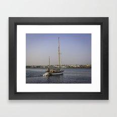 Leaving Dock Framed Art Print