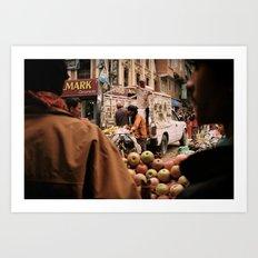 Kathmandu Markets Art Print