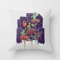 City of Flower Throw Pillow