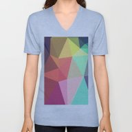 Unisex V-Neck featuring Peace by Contemporary