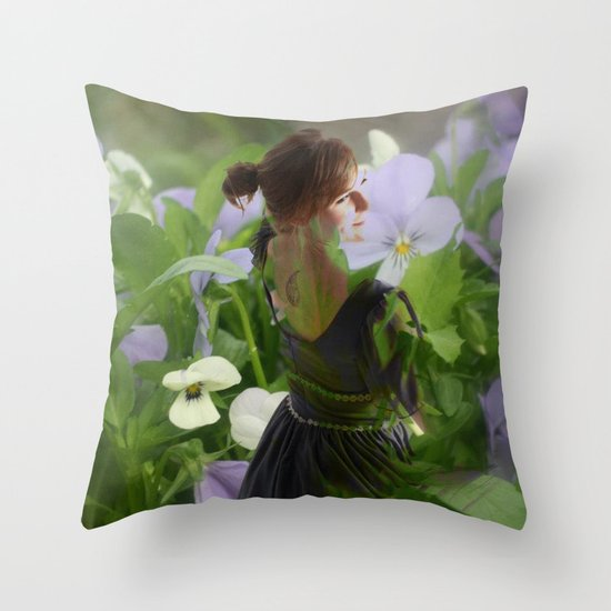 Flower Fairies Throw Pillow