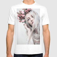 Floral spring Mens Fitted Tee White SMALL