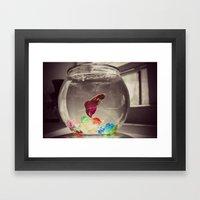 Swim in Color Framed Art Print