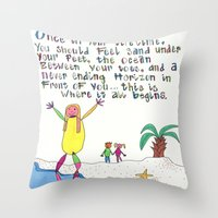 Sand Between Your Toes Throw Pillow