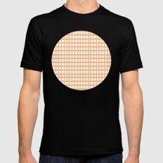 LINES in APRICOT SMALL Mens Fitted Tee Black