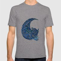 - 15 Wave - Mens Fitted Tee Tri-Grey SMALL