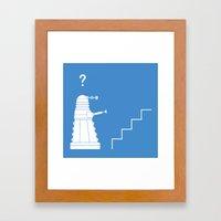 The problem with Daleks. Framed Art Print